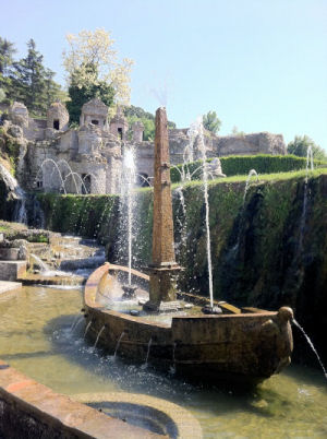 La Rometta Fountain at Villa D'Este
